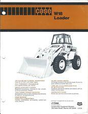 Equipment Brochure - Case - W18 - Wheel Loader - c1981 (E4142)
