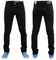 Men Skinny Jeans Stretch Slim Fit Zip Fly Denim Biker Pants Trousers Sizes 28-38