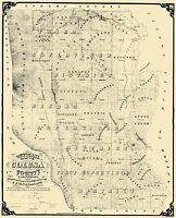 Colusa California Landowner - DeJarnett 1874 - 23 x 28.31
