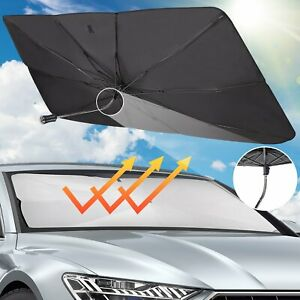 Car Sun Shade for Windshield The 360° Rotation Bendable Shaft Protect Scratches