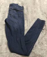 AG Adriano Goldschmied Medium Wash The Middi Mid-rise Jegging Women's 25