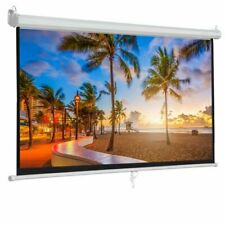 100 Inch 16 9 Manual Pull Down Projector Projection Screen Home Theater Movie