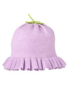 GYMBOREE SQUIRREL CUTIE LAVENDER FLOWER MUSHROOM SWEATER HAT 0 3 6 12 18 24 NWT