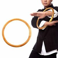 Chinese Kung Fu Hoop Wood Rattan Ring Wing Chun Hand Strength Training Set New