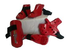 Century Sparring Gear Martial Arts Karate 5 piece Set Red Youth/Small Woman
