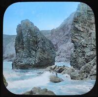 Magic Lantern Slide Photo England Kynance Cove Among The Rocks Cornwall Colour