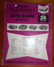 SAMS PHOTOFACT SEPT 1964 AUTO RADIO REPAIR MANUAL SERIES AR-26
