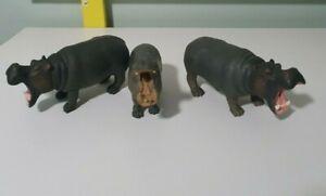 CollectA 88029 *Hippopotamus *Life Model Hippo *African Wildlife 3 HIPPOS