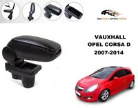 ARMREST CENTRE CONSOLE SPEACIALLY OPEL CORSA D 2007-2014 BLACK LEATHERETTE