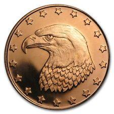 999 Cuivre Monnaie de Médaille Aigle Tête Eagle 0,5 pouces Nouveau Top