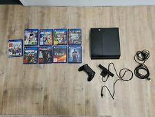Sony PlayStation 4 500GB Schwarz mit 2. Version Controller Kamera + 9 Spielen