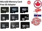Micro SD MicroSD Memory Card TF 1GB 2GB 4GB 8GB16GB 32GB 64GB 128GB 256GB  <br/> Genuine Fits Tablets, Dash Cams, Drones, Smartphones PC