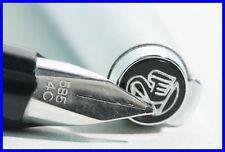 PELIKAN SILVER STAR Fountain Pen / WHITE-GOLD Nib in 14C 585 & Size OB / STEEL