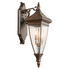 Kichler Venetian Rain Large Wall Lantern 3 x 60W E14 220-240v 50hz IP44 Class I