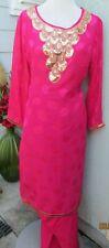 beautiful full embroidery chiffon salwar kameez Size  XL44
