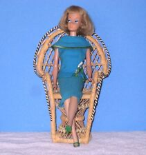 Vintage Barbie Rare Antique Handmade Wicker Peacock Chair Doll Not Included