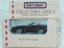 MATCHBOX COLLECTOR'S CHOICE NO.14 - '87 CORVETTE