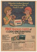 1978 Comic Book Ad Wonder Bread Close Encounters of The Third Kind Trading Cards
