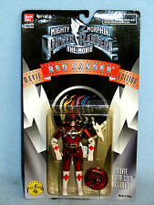 POWER RANGERS MMPR MOVIE EDITION RED RANGER NEW IN BOX INCLUDES MOVIE COIN