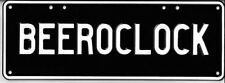 Beer OClock Novelty Aluminum Number Plates - FREE POSTAGE!