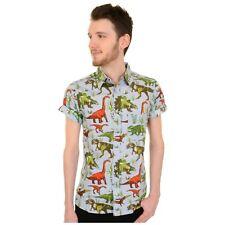 Jurassic Adventure Retro Dinosaur Print Shirt by Run and Fly S/M/L/XL/XXL BNWT/N