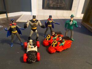 1993 BATMAN ANIMATED SERIES MCDONALD'S HAPPY MEAL BATMAN FIGURES Lot of 6