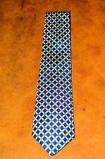 "NEW Vintage TURNBULL & ASSER Black/Blue/Yellow Square Handmade 3.5"" English Silk"