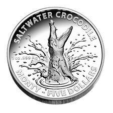 1 oz Silber Salzwasserkrokodil - Monty 2016 - PP High Relief im Etui