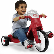 Big Wheels For Kids Tricycle Boys Red 16 Front Wheel Low Seat Toy Lights Sounds