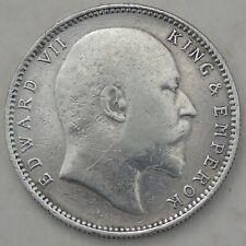 1906 British India King Edward VII One Rupee KM# 508, good detail, antique coin