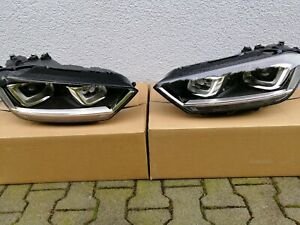 VW Golf Sportsvan Headlight Headlamp Bi-Xenon Set UK Original