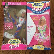 New in Box Barbie Doll Olympic Gymnast Gift Set Atlanta 1996 with Card gymnist