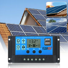 12V/24V 30A Solar Charge Controller Solar Panel Battery Intelligent Regulator US