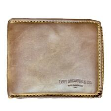 Levi's Men's Brown Leather Wallet - Lightly Used Bifold