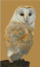 "Barn Owl 4 Counted Cross Stitch Kit 15"" x 8.75"" FREE P&P B2417"