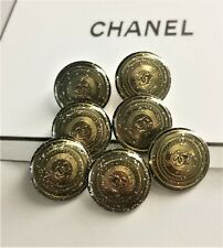 100% Authentic Chanel CC Logo LOT OF 3 Button Buttons Ø 0,71 inch Metal Classic