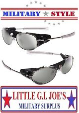 Chrome Aviator Style Sunglasses With Wind Guard CE Motorcycle Glasses 20380