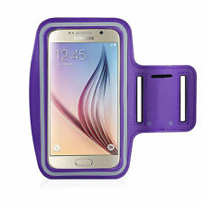 Running High Quality Adjustable Neoprene Armband Tie Samsung Galaxy S6 Purple