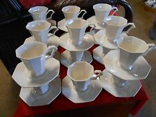 Beautiful  INDEPENDENCE Stoneware by Interpace  17 CUPS and SAUCERS