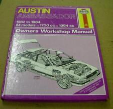 AUSTIN AMBASSADOR 1982 1984 USED HAYNES WORKSHOP MANUAL