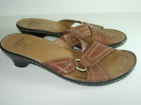 Eastland Ladies Brown Distressed Leather Sandal Size 8 M