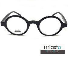 "MIASTO ""HARRY POTTER"" ROUND RETRO VINTAGE READER READING GLASSES+2.00 BLACK"