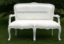 SMALL ORNATE WHITE LOUIS SOFA DOUBLE ENDED CHAISE LONGUE SALON HOME EVENTS
