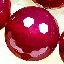 """10mm Faceted Pink Agate Round Beads 16"""""""