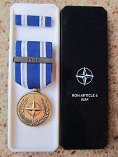 ORIGINAL NATO  MEDAL - EARLY ISSUE ISAF  - NEW IN BOX OF ISSUE