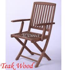 Outdoor Myanmar / Burma Teak Wood Foldable Arm Chair 3A613A
