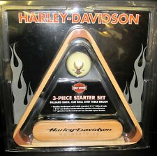 Harley Davidson Wood 3 Piece Pool Billiards Starter Set