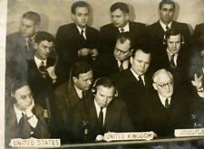 MM. Vychinski, Jessup, Malik et Gladwyn  Vintage silver print,commission de l&