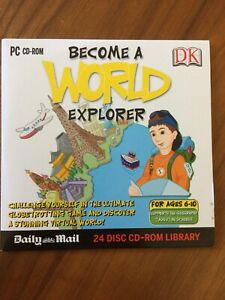 PC CD-ROM Become a World Explorer (Ages 6-10)  DK / Daily Mail Promo