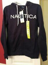 Nautica Womens Hooded Zip Up Sweatshirt New With Tags